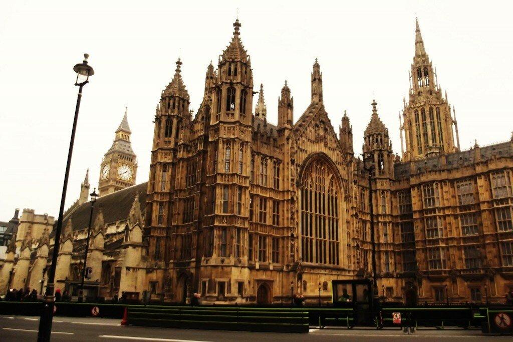 Palácio de Westminster - Mapa de Londres