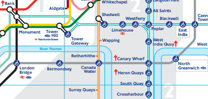 Mapa do metrô - Mapa de Londres