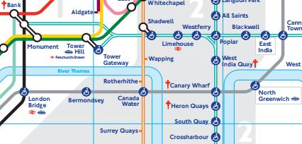 Estações De Metro Londres Mapa.Estacao De Canary Wharf Em Londres Londres Mapa De Londres