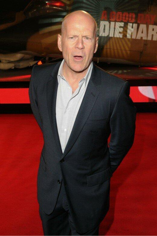 Bruce Willis divulgando seu novo Die Hard na Leicester Square. Foto: Shutterstock