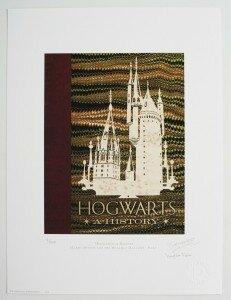 Livro de Hogwarts. Reprodução: The Printorium, MinaLima