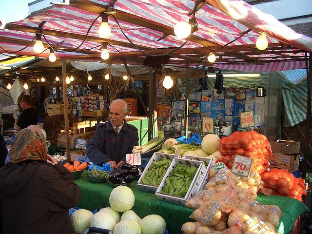 Mercado de Dalston. Foto:  bareknuckleyellow, CC BY-SA 2.0