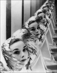 Audrey Hepburn retratada por Erwin Blumenfeld. Foto: Divulgação