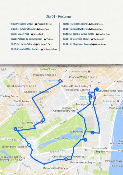 Print - Roteiro Mapa de Londres