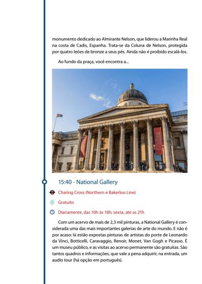 National Gallery Roteiro Mapa de Londres