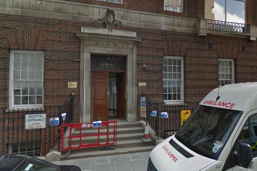 St Mary's Hospital.  Reprodução: Google Maps