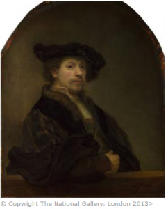 Self Portrait at the Age of 34 1640, Rembrandt. Reprodução, National Gallery.