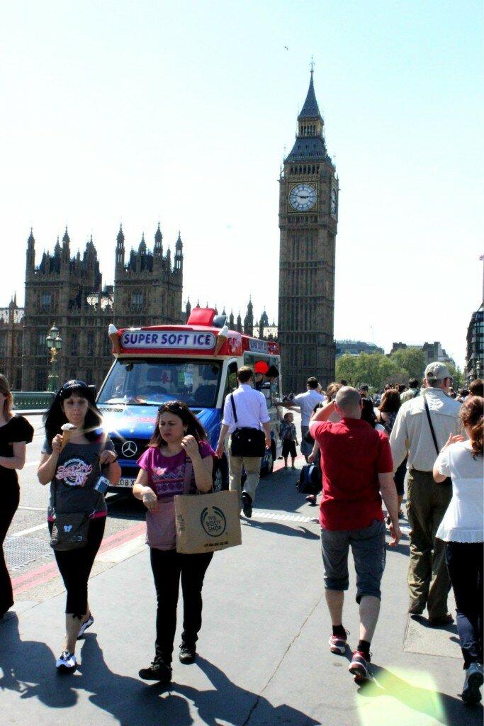 Sorvetes em Westminster - Mapa de Londres