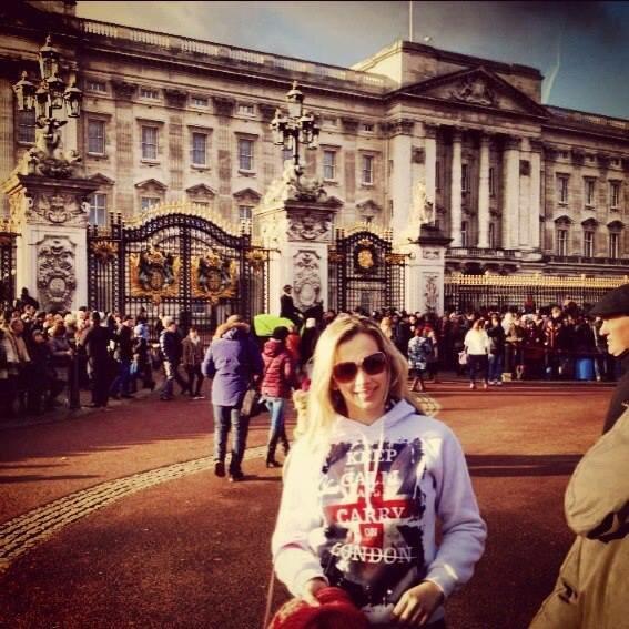 Na Troca da Guarda, em frente ao Palácio de Buckingham. Foto: Arquivo pessoal
