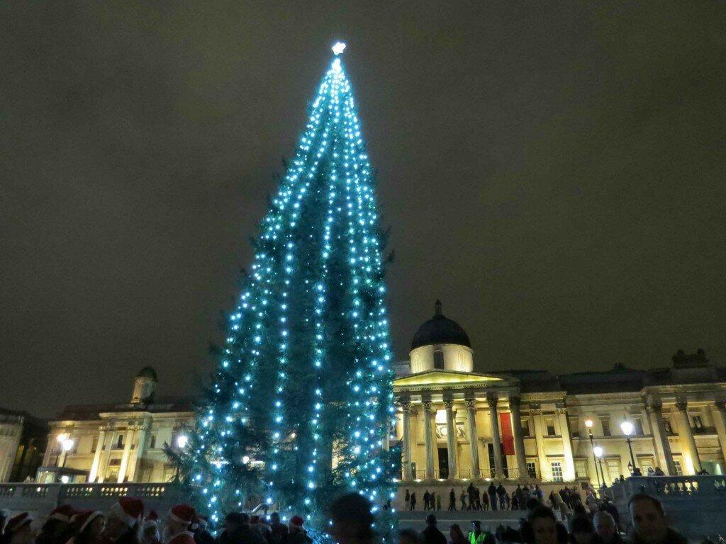 Natal em Trafalgar Square - Mapa de Londres