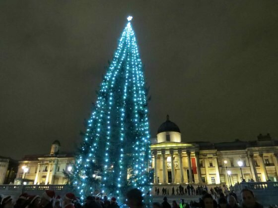 Trafalgar Square, a principal praça de Londres