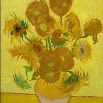 Girassóis - 1889, da coleção do Museu Van Gogh