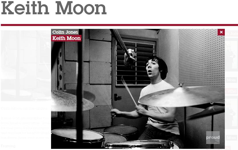 Keith Moon retratado por  Colin Jones