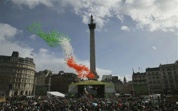 St. Patrick's Day em Londres em 2014 – Mapa de Londres. Foto: Divulgação