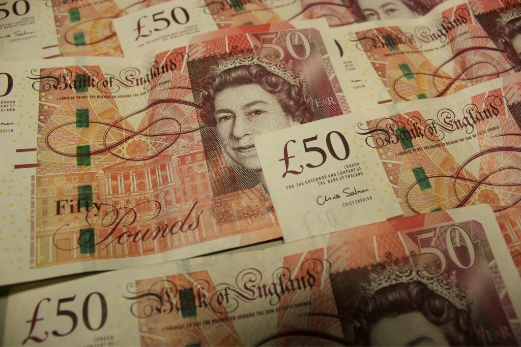 Pounds sterling. Foto: Mapa de Londres
