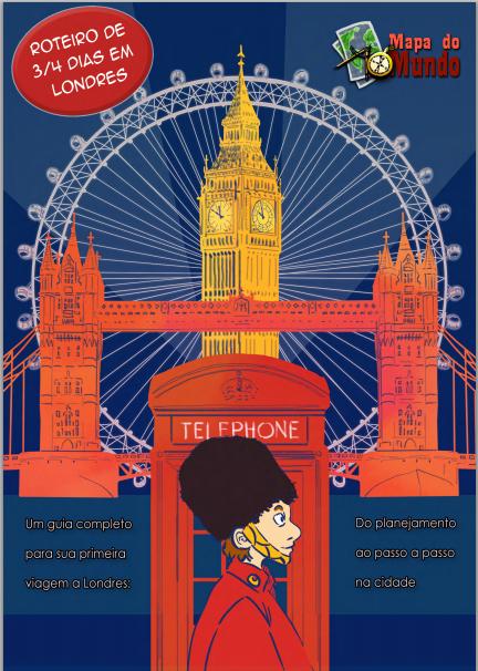 Roteiro de 3 ou 4 dias em Londres - Mapa de Londres