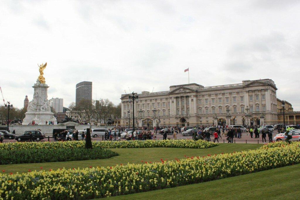 Palácio de Buckingham na primavera