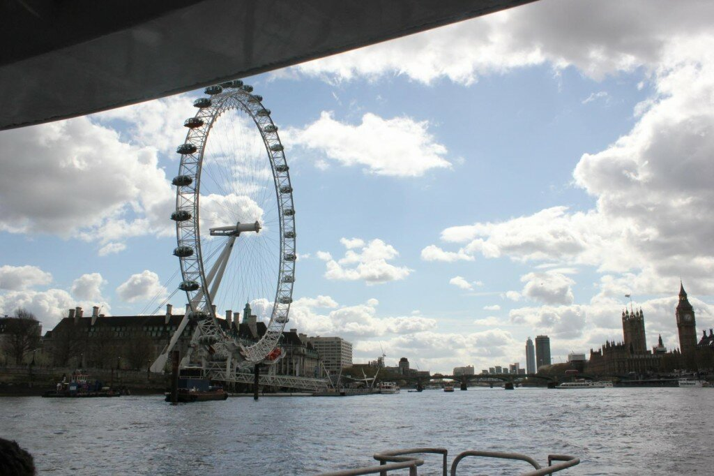 London Eye na primavera