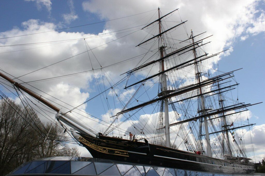 Cutty Sark no Distrito Real de Greenwich. Foto: Mapa de Londres