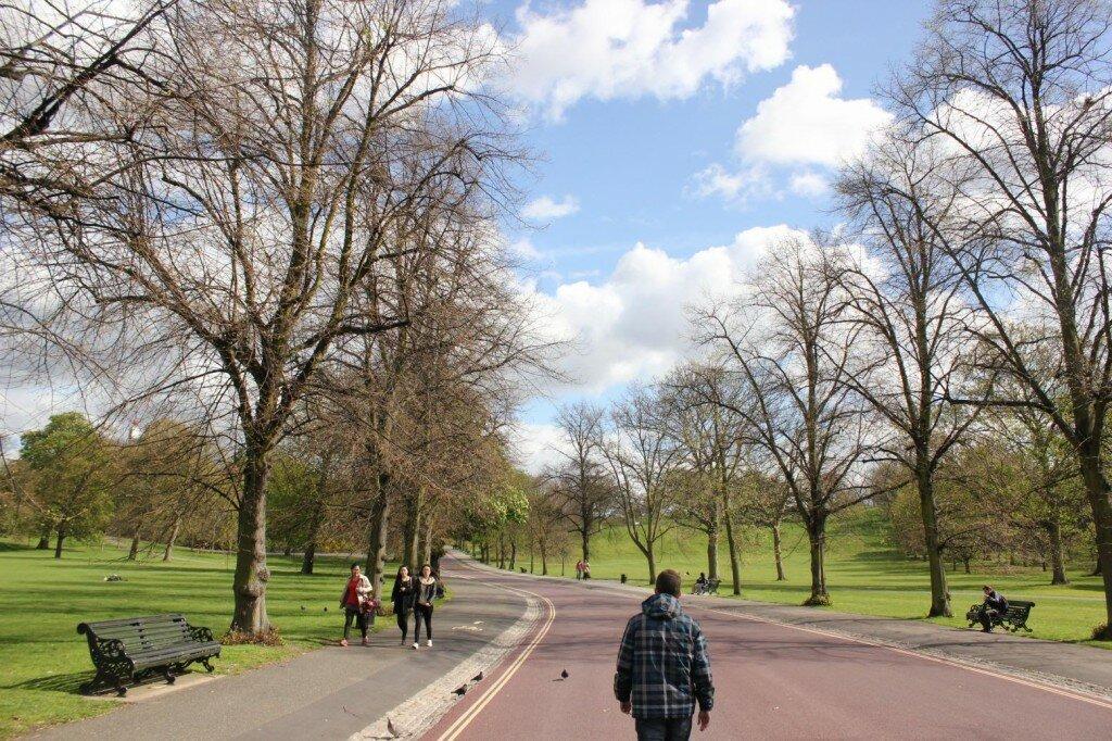 Greenwich Park na primavera