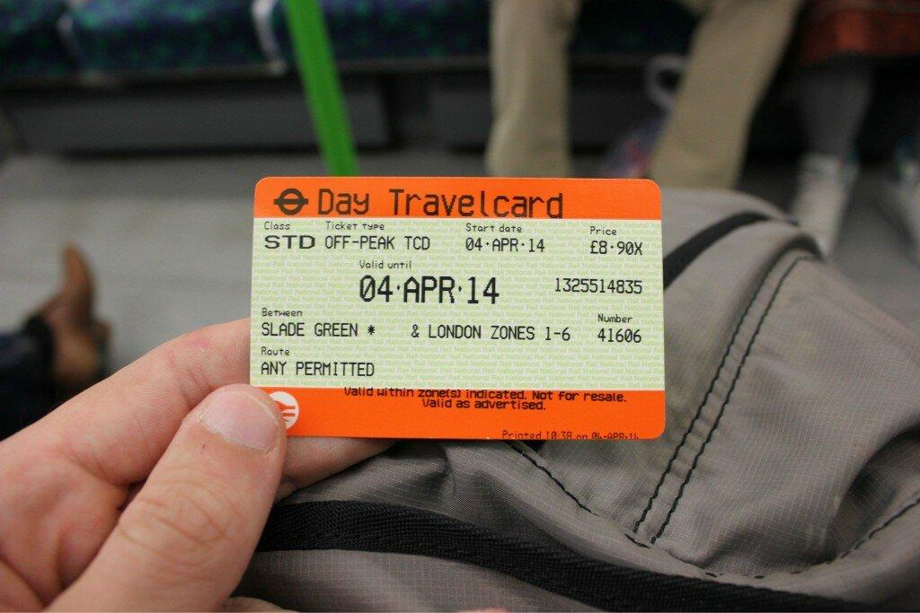 Passe de trem - 2 for 1 - Mapa de Londres