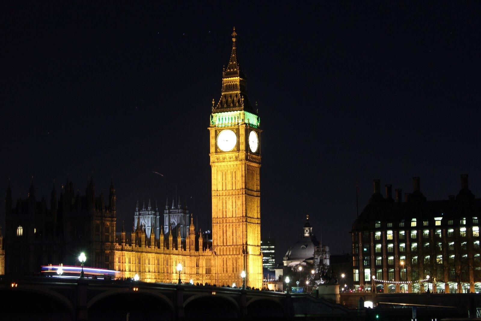 Big Ben ao anoitecer
