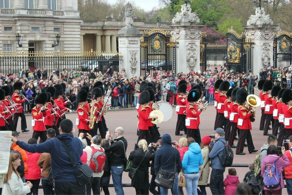 Troca da Guarda em frente ao Palácio de Buckingham. Foto: Mapa de Londres