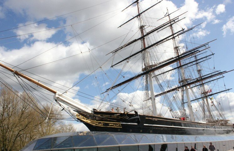 Cutty Sark em Greenwich - Mapa de Londres