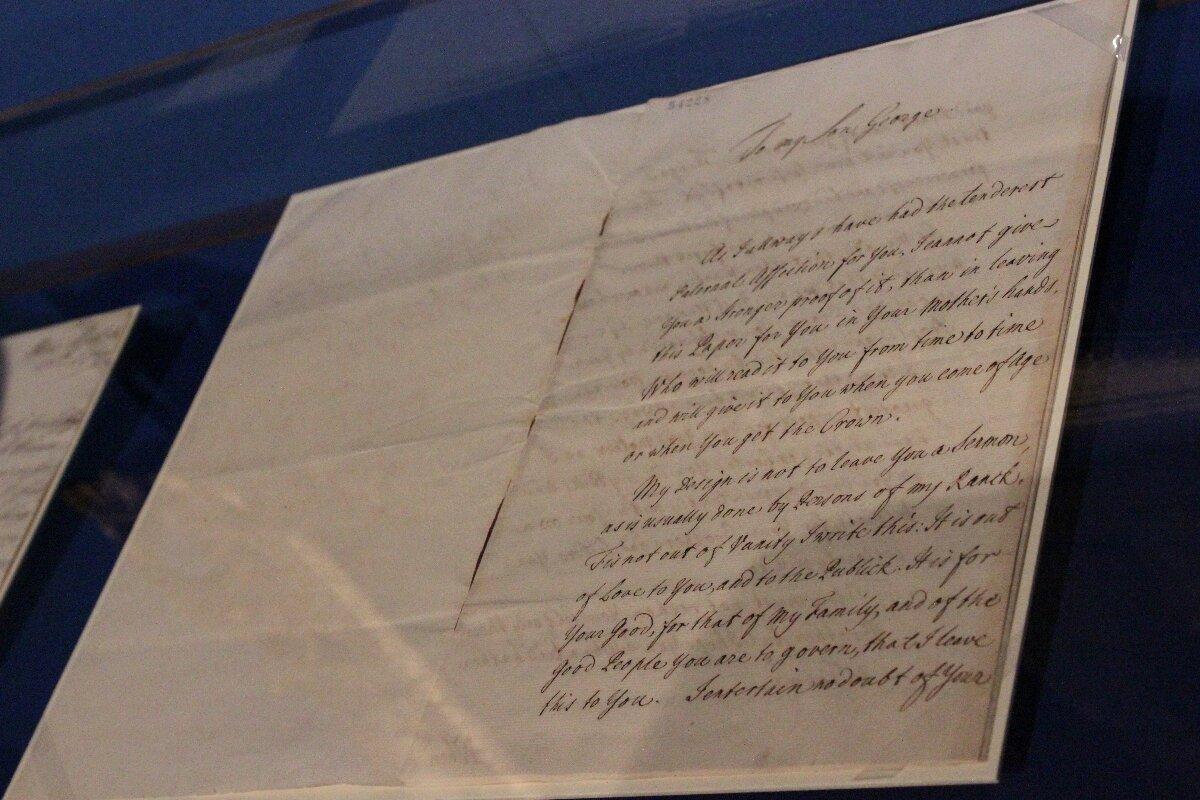 Em carta, Frederick I da Grã-Bretanha aconselha George II a evitar guerras, não confiar em bajuladores e recuperar a glória ao trono