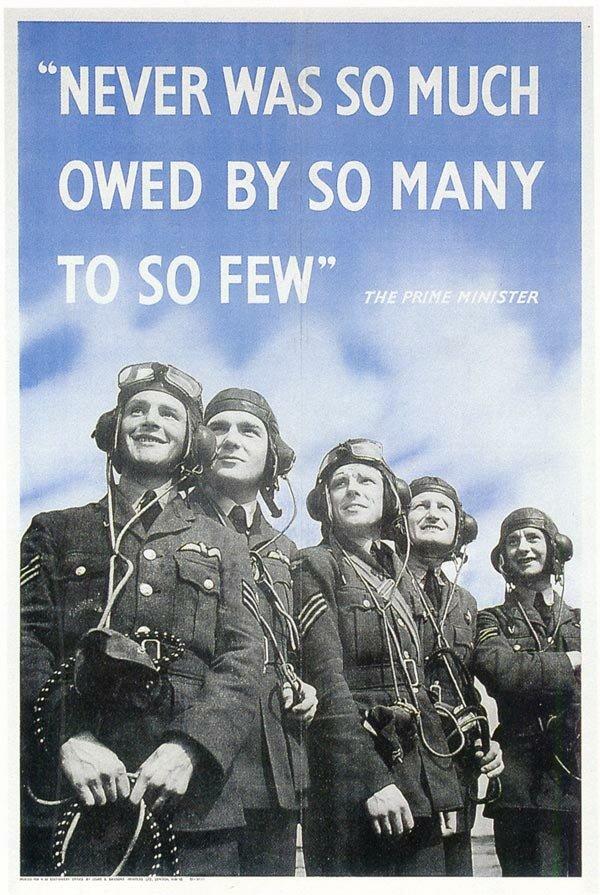 Bravura dos combatentes britânicos deu moral aos aliados. Foto: Domínio público