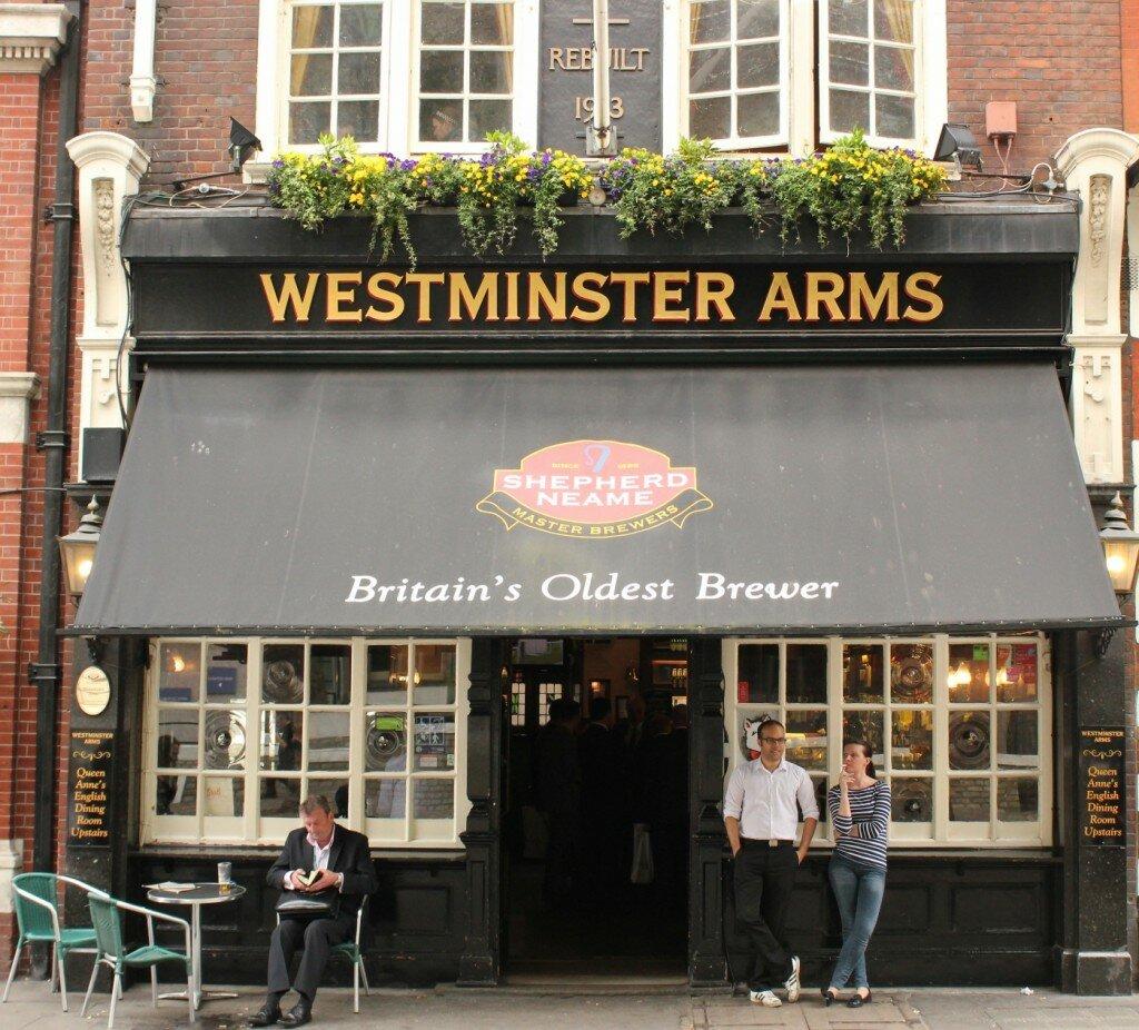 Pub Westminster Arms - Mapa de Londres