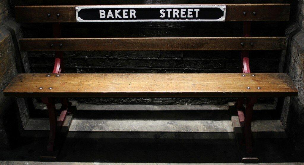 Metrô, estação de Baker Street - Mapa de Londres