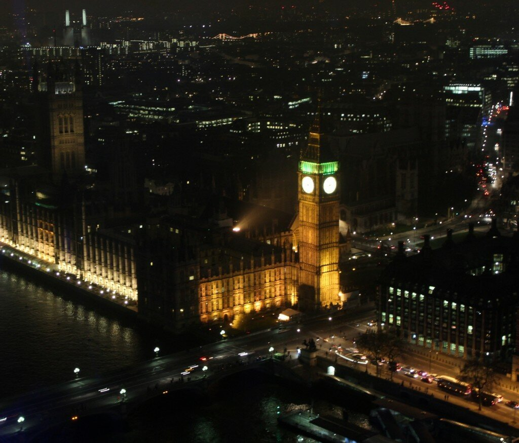 Big Ben da London Eye - Palácio de Westminster