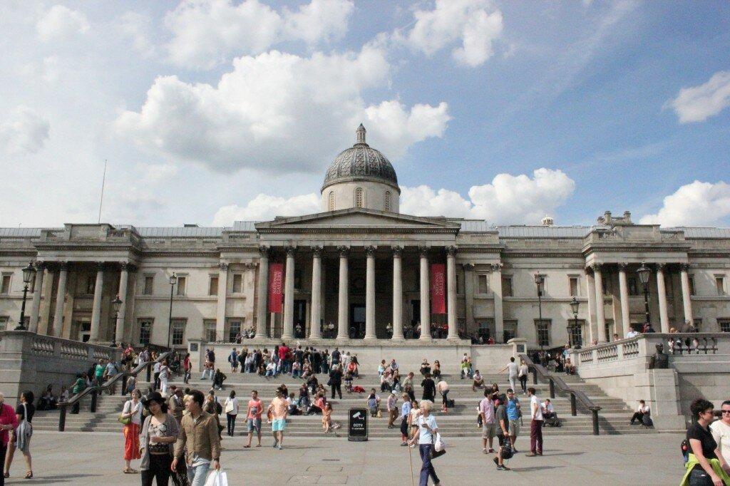 Clique para saber mais sobre a National Gallery. Foto: Mapa de Londres