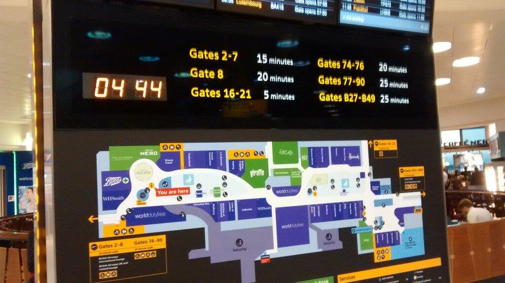 Bem-vindo ao aeroporto de Heathrow em Londres. Foto: Mapa de Londres