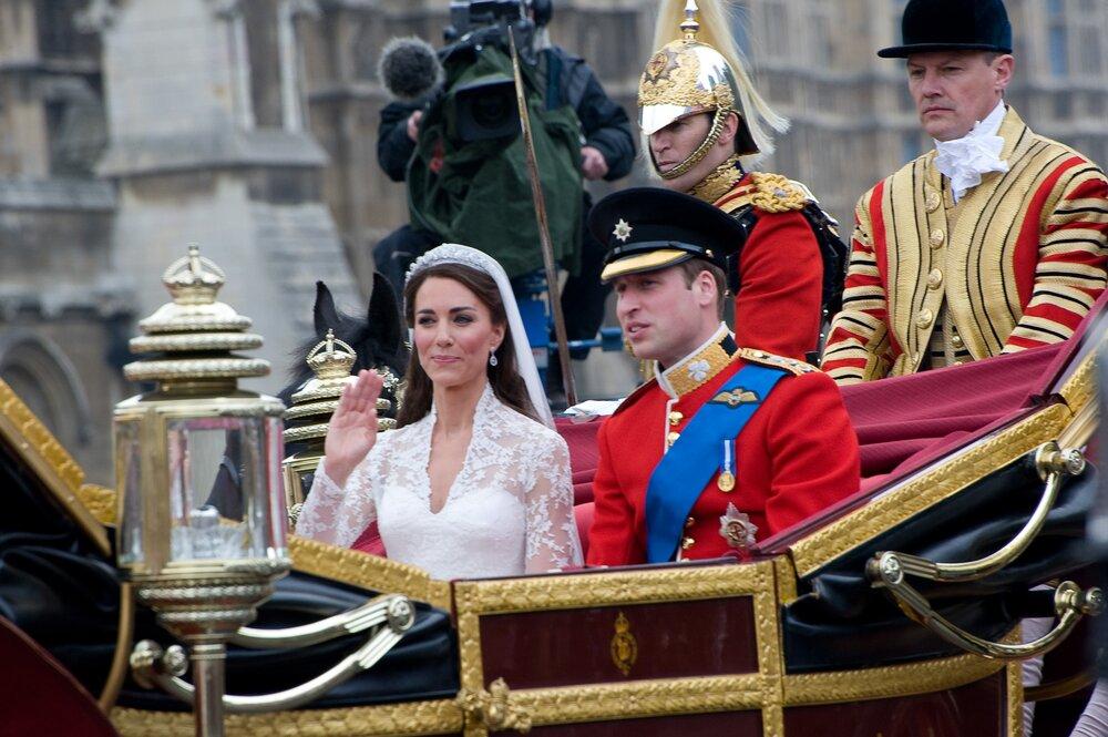 Príncipe William e Kate Middleton em seu casamento, em 2011. Foto: Shutterstock