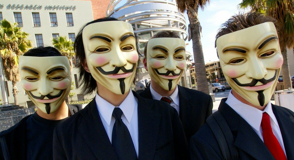 Anonymous se apropriam da imagem de Guy Fawkes. Foto: Vincent Diamante. CC BY-SA 2.0