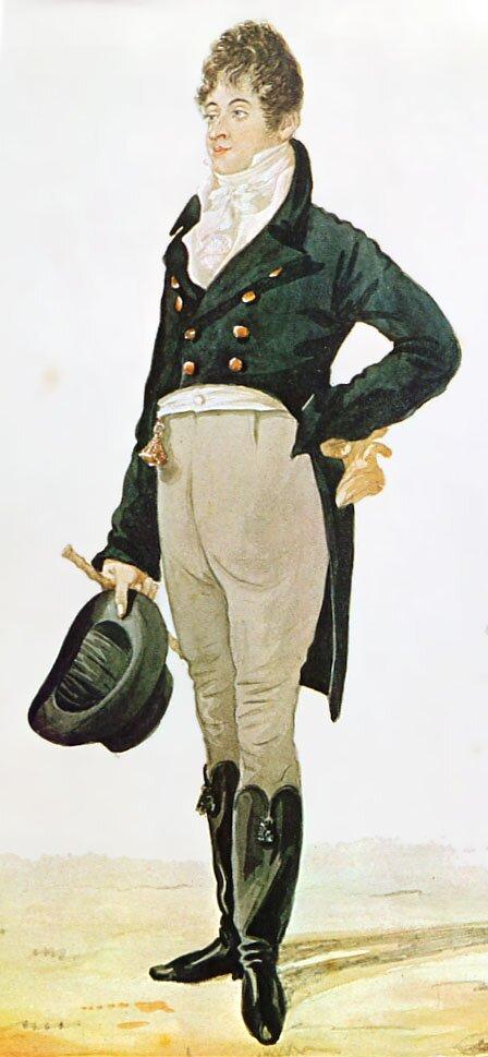 A representação do Dandy por Richard Dighton. Foto: domínio público.
