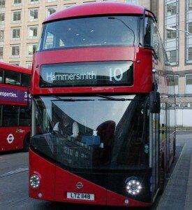 Ônibus estão parados em Londres. Foto: Mapa de Londres