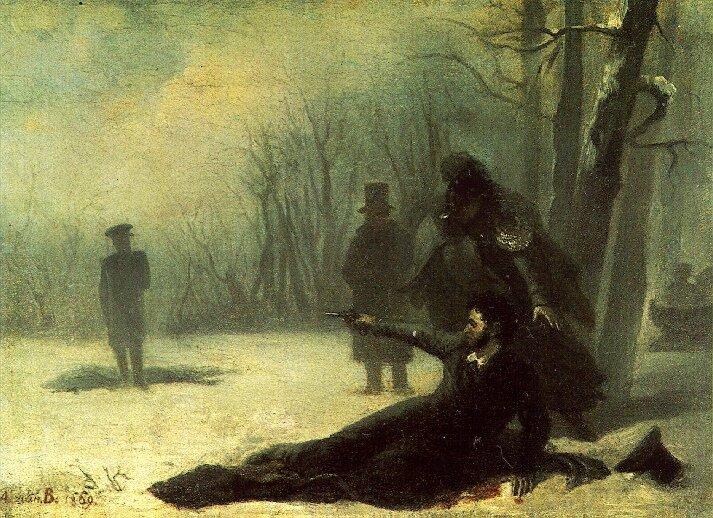 Alexander Pushkin vs Georges d'Anthès, 1837. Foto: domínio público