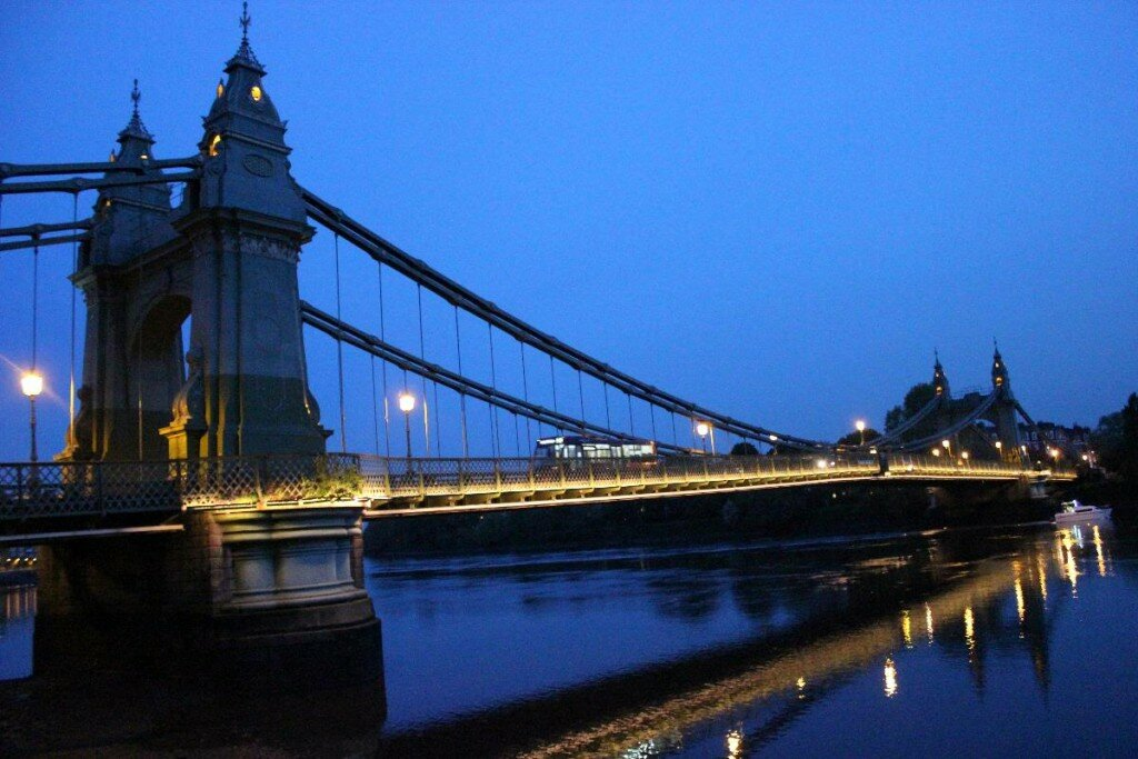 Hammersmith Bridge - Mapa de Londres