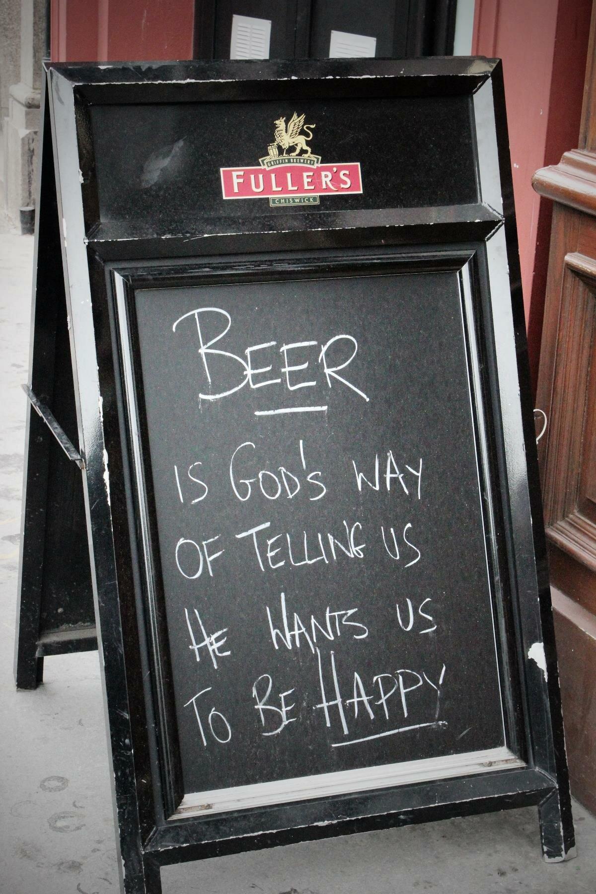 Uma cervejinha eleva o espírito. Foto: Mapa de Londres