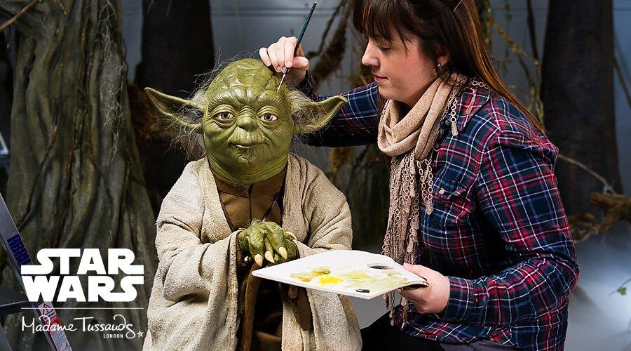 Yoda feito de cera que estará no museu. Foto: Divulgação