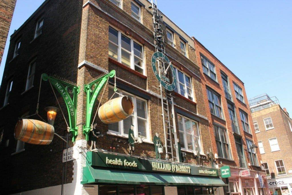Neal's Yard - Mapa de Londres