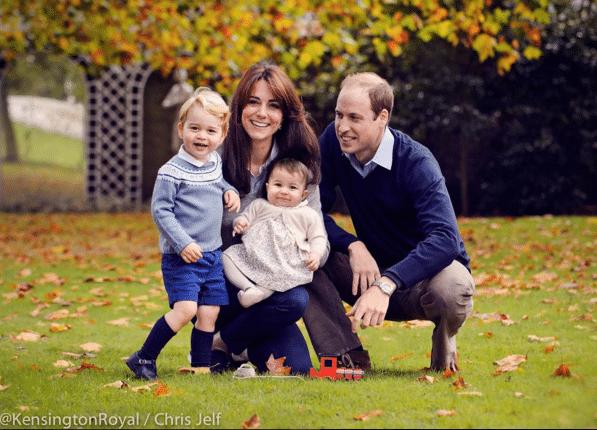 A família do Príncipe William. Foto: Royal Family