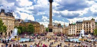 Imagens de Londres: Trafalgar Square