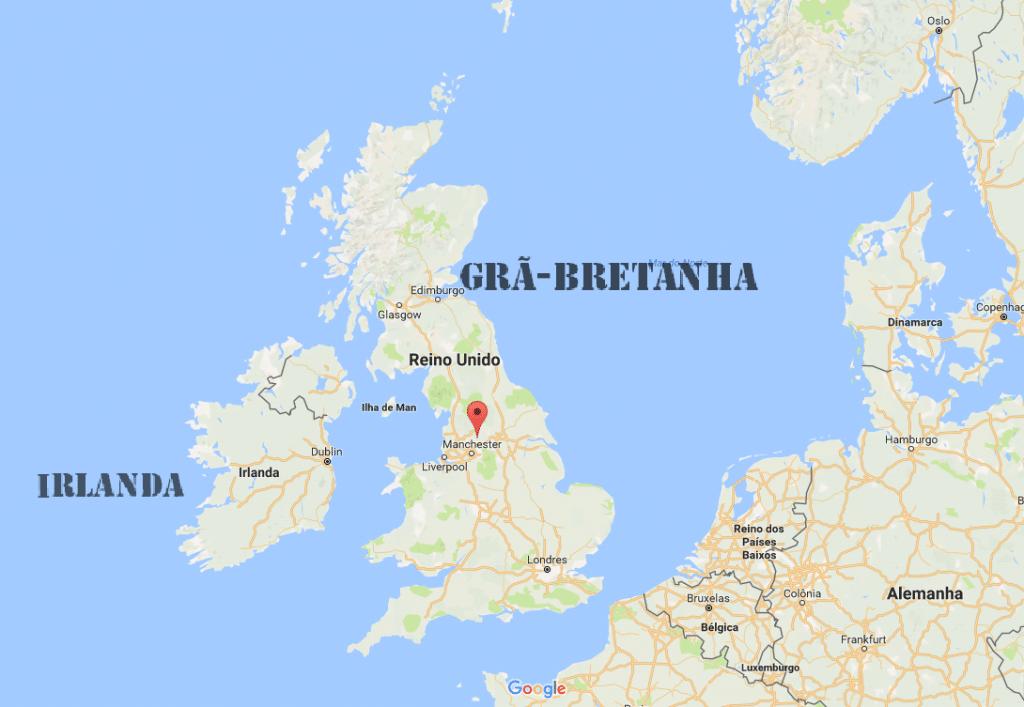 Grã-Bretanha no mapa