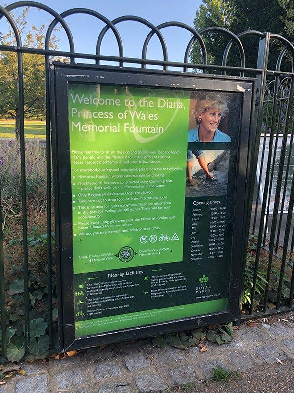 Fonte Memorial Diana - Hyde Park