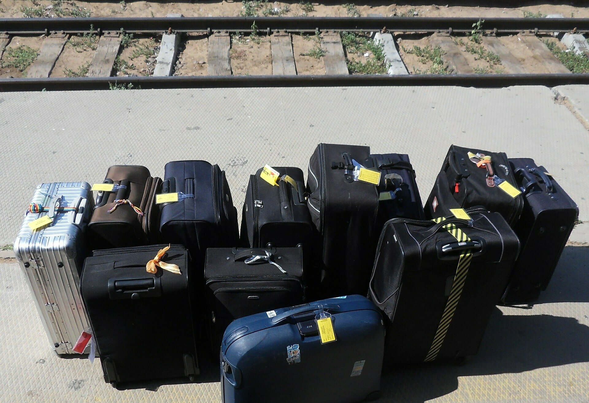 Malas de viagem no Eurotrem
