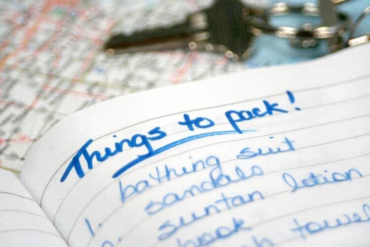 Check list de viagem